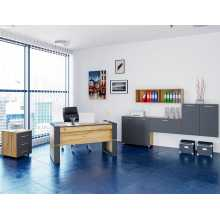 Business Office 1 - Complete office furniture in melamine-faced wood, home, studio, school, hotel