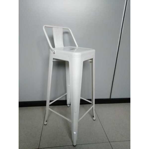 Bar stool tolix style h65 Metal Red Restaurant Catering Hotel