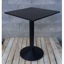 MARTE PR - Table with central cast-iron leg and wood top (Melamine Laminate)