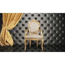 Upholster eco-leather wall paneling for contract bar benches, various colours