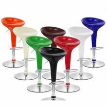 IRIS - ABS bar stool, chrome legs. Suitable for home, office, bar, restaurant, hotel.