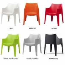 COCCOLONA - Outdoor polypropylene stackable chair. Suitable for bar, restaurant, pool, hotel, grand soleil, SCAB DESIGN