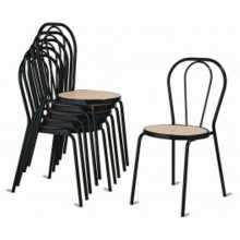 Vienna I -Steel, wicker, plastic, wood, eco-leather thonet chair. Suitable for bar, restaurant, hotel