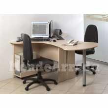 Devona - Contract melamine laminate office double desk. Suitable for office, hotel.