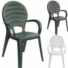 Paloma - Stackable resin chair. Suitable for garden, bar, pizzeria, pool.